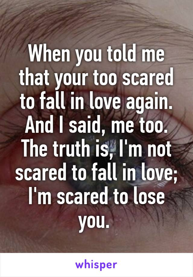 To love and lose and love again