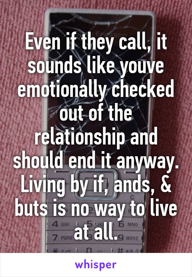Emotionally checked out of relationship