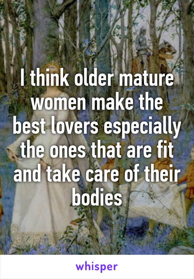 Older women make good lovers