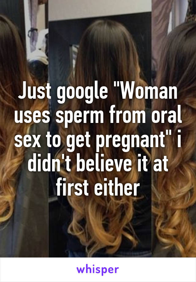 Womans first oral sex