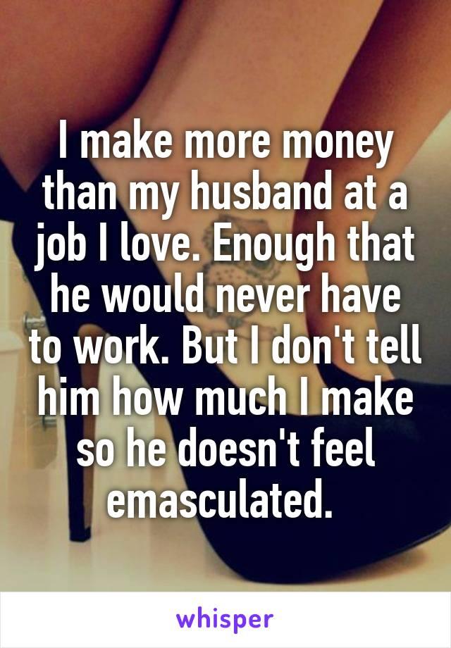 Emasculated husband