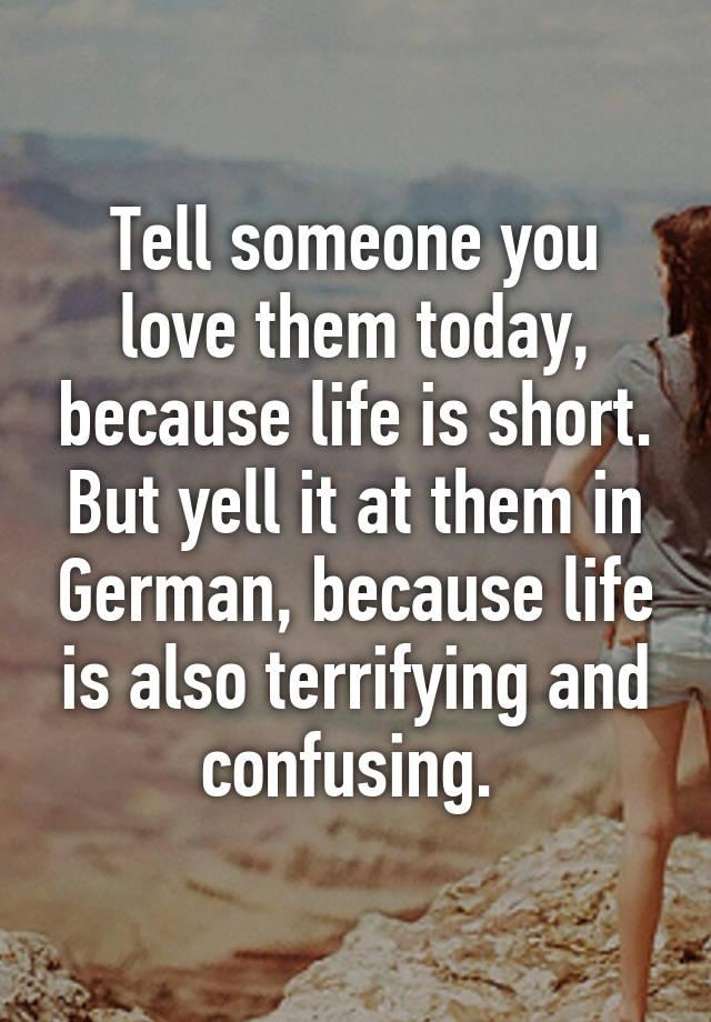 Tell someone you love them german