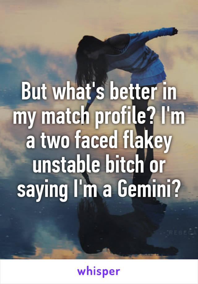 my match profile