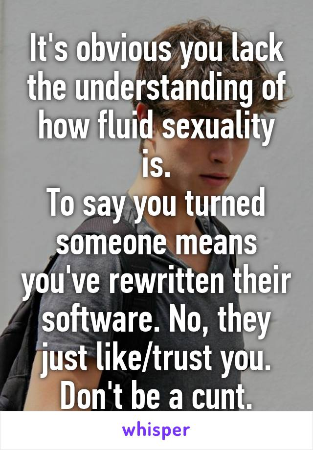 What does it mean when someone says sexuality is fluid