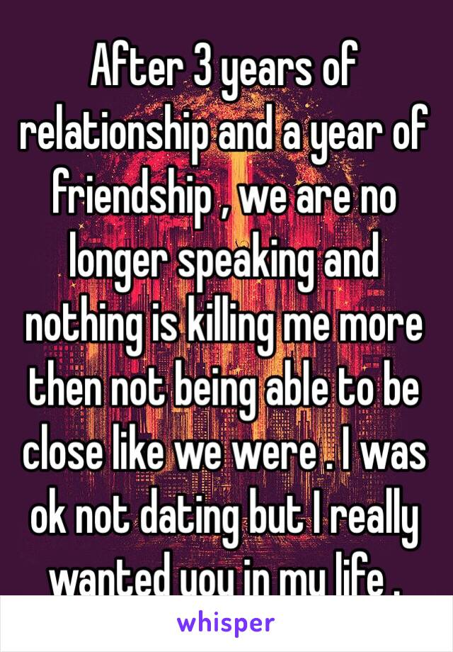 Relationship after 3 years of dating