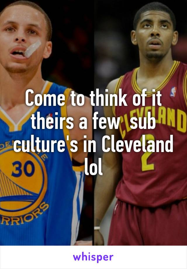 Come to think of it theirs a few  sub culture's in Cleveland lol