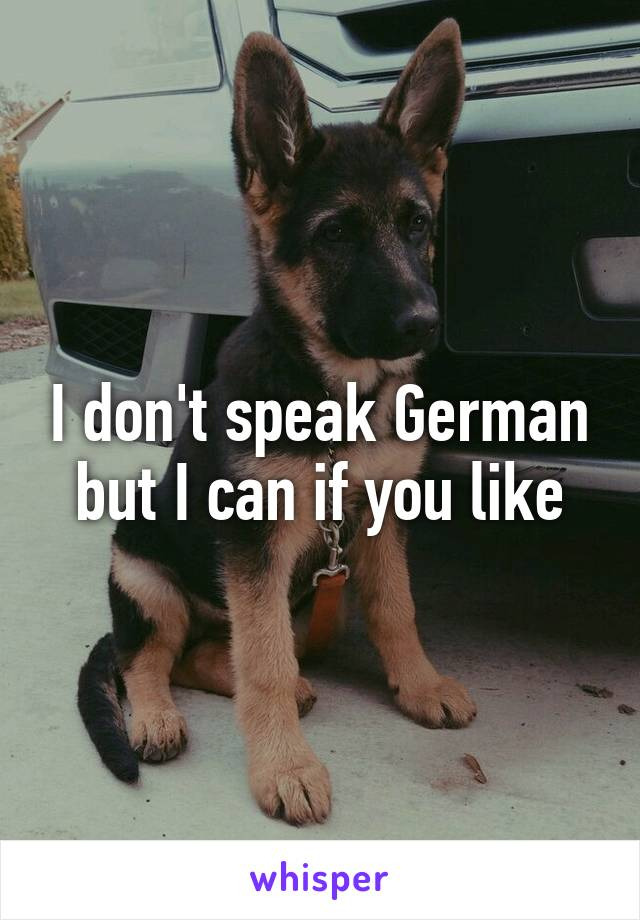 I don't speak German but I can if you like