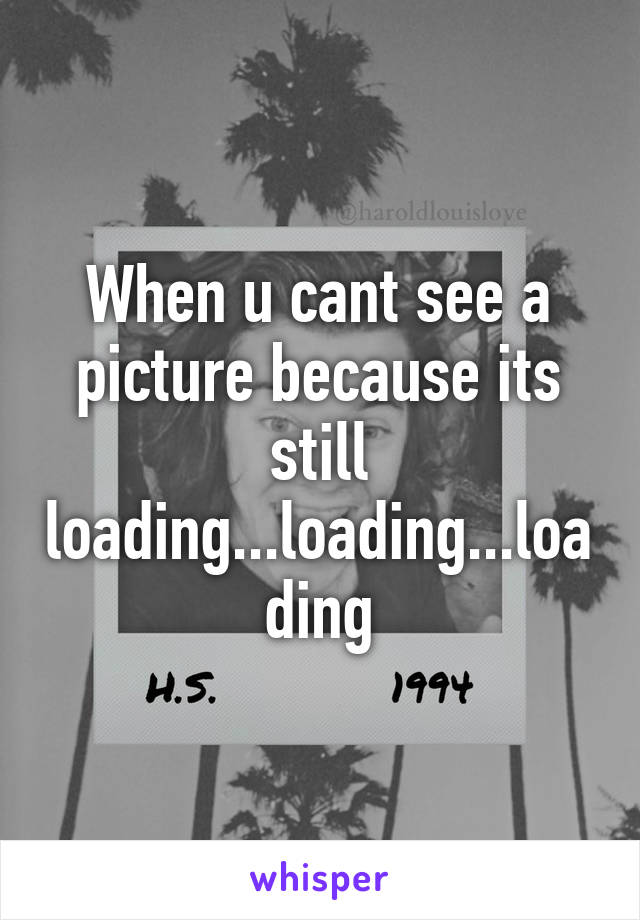 When u cant see a picture because its still loading...loading...loading