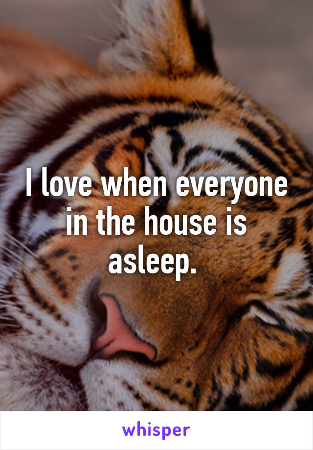 I love when everyone in the house is asleep.