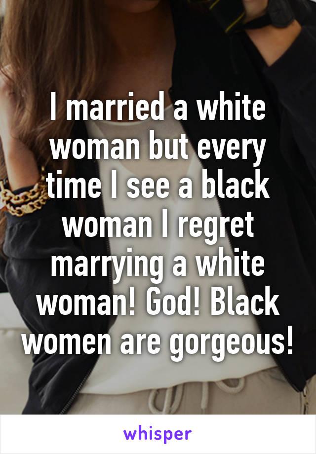 i married a black woman