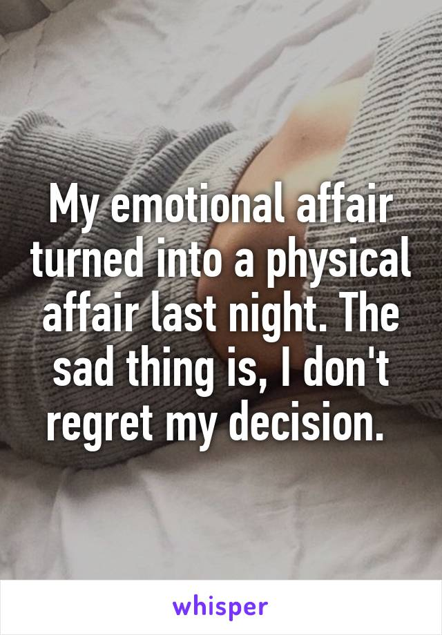 Emotional vs physical affair