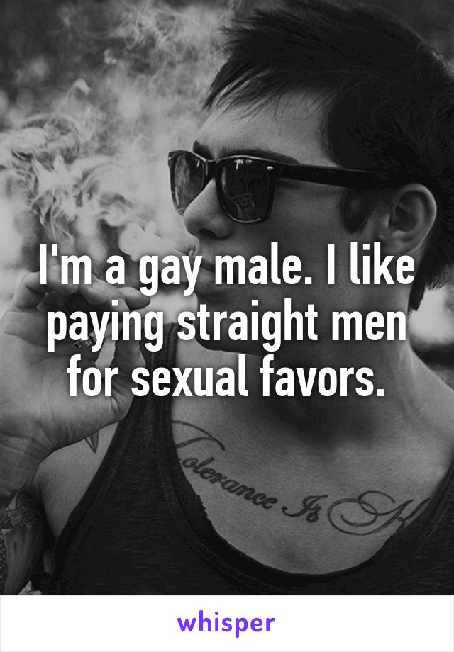 who for sexual favors Man pays