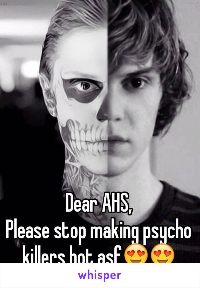 Dear AHS,  Please stop making psycho killers hot asf😍😍