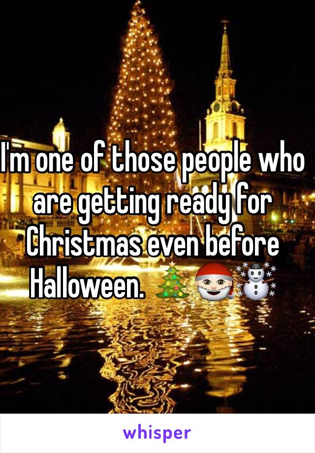 I'm one of those people who are getting ready for Christmas even before Halloween. 🎄🎅🏻☃