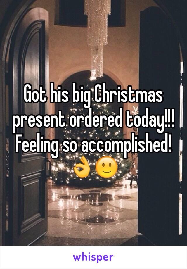 Got his big Christmas present ordered today!!!  Feeling so accomplished!  👌🙂