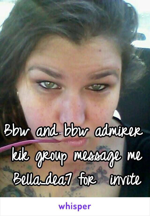 Bbw on kik