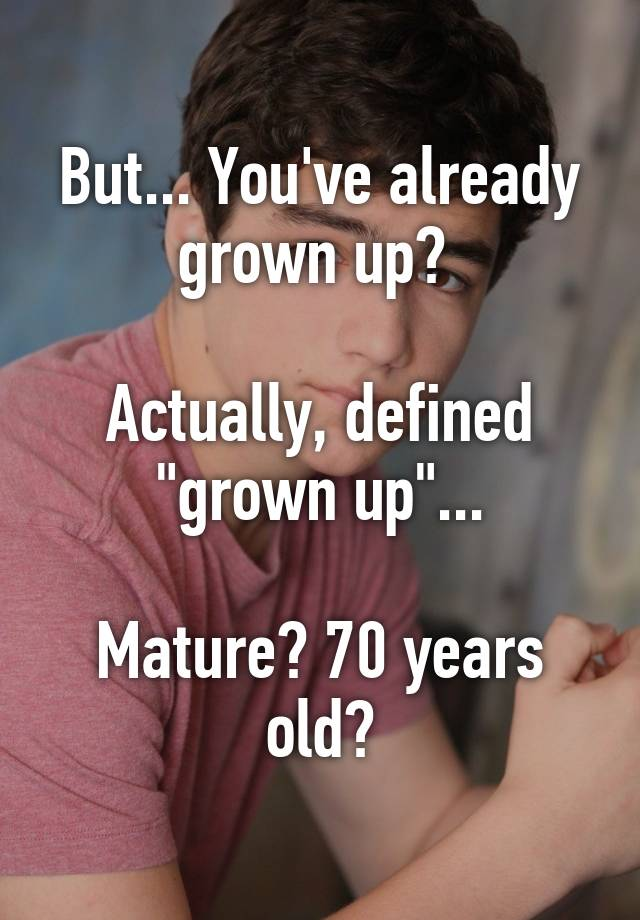 grownup definition