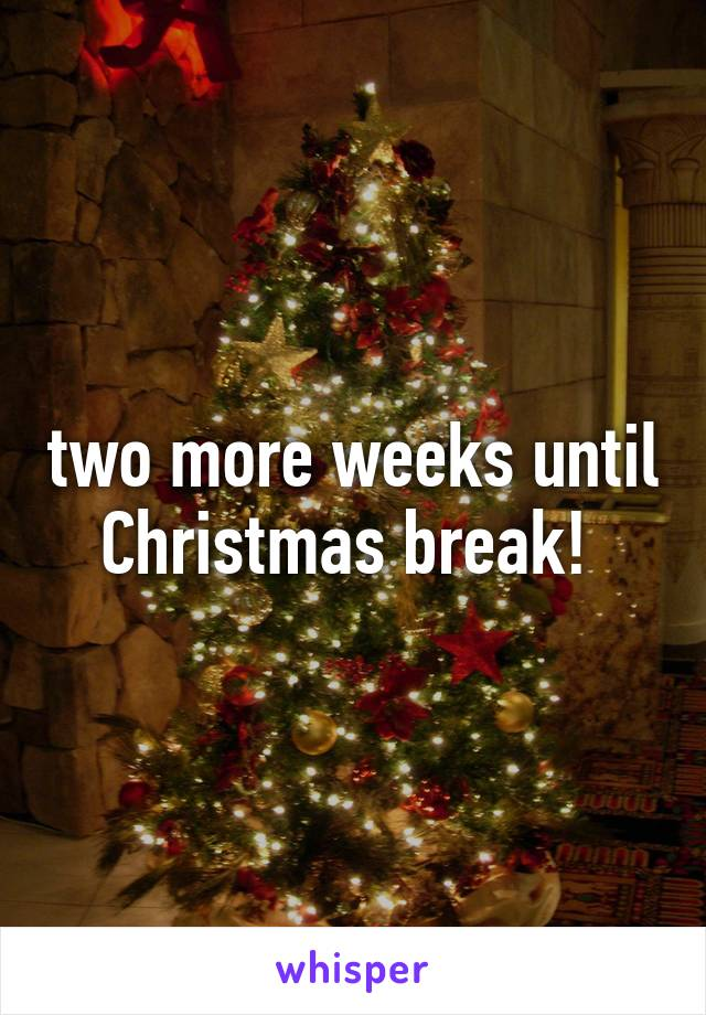two more weeks until christmas break - How Many More Weeks Until Christmas