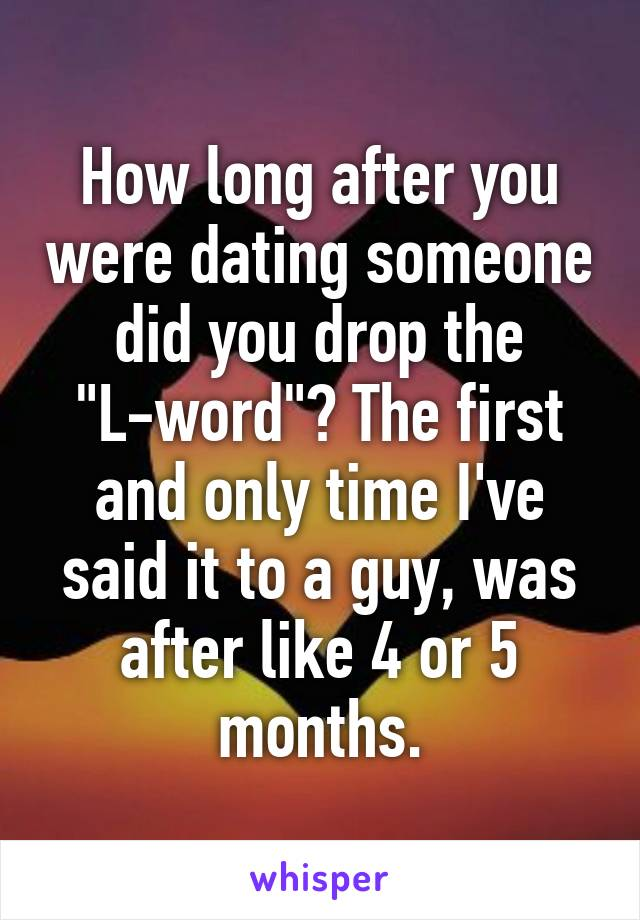 First month of dating someone