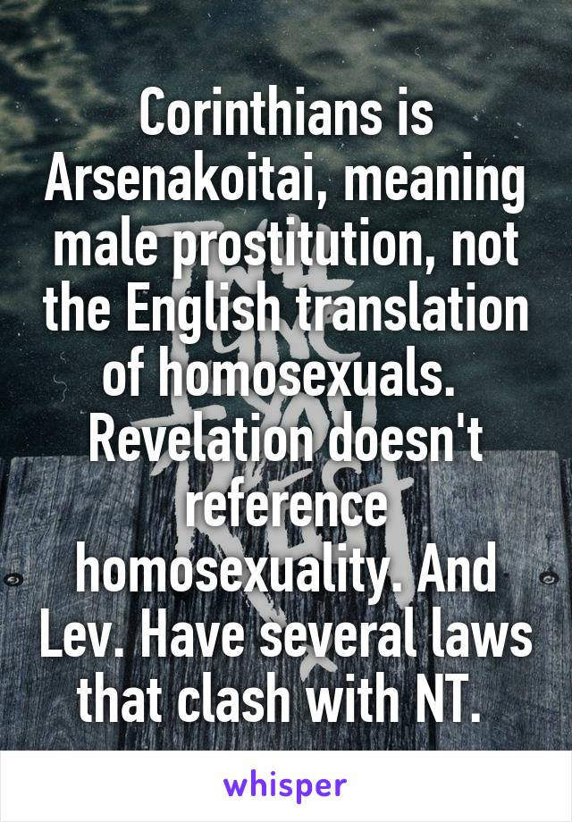 Nt references to homosexuality