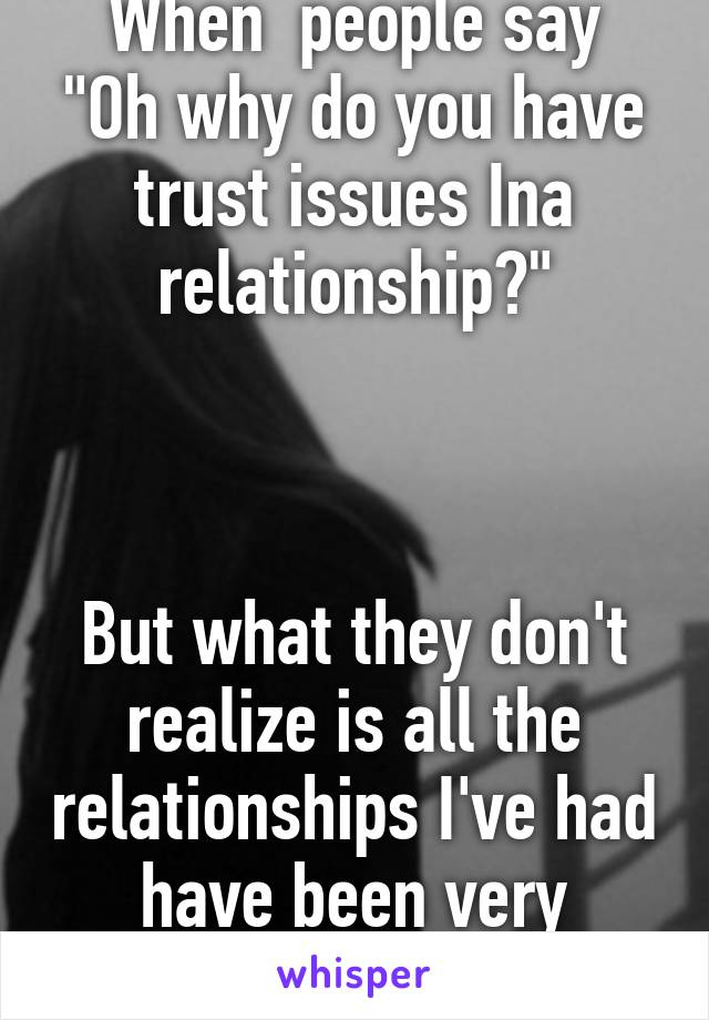what is trust issues in a relationship