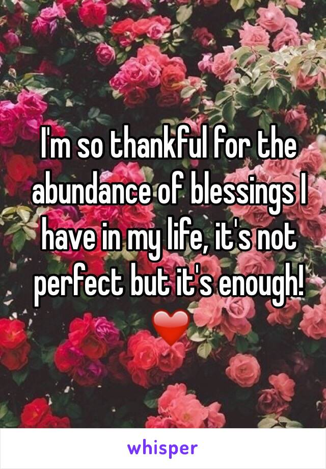 I'm so thankful for the abundance of blessings I have in my life, it's not perfect but it's enough! ❤️