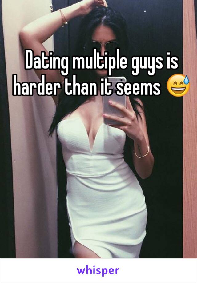 Dating multiple guys is harder than it seems 😅