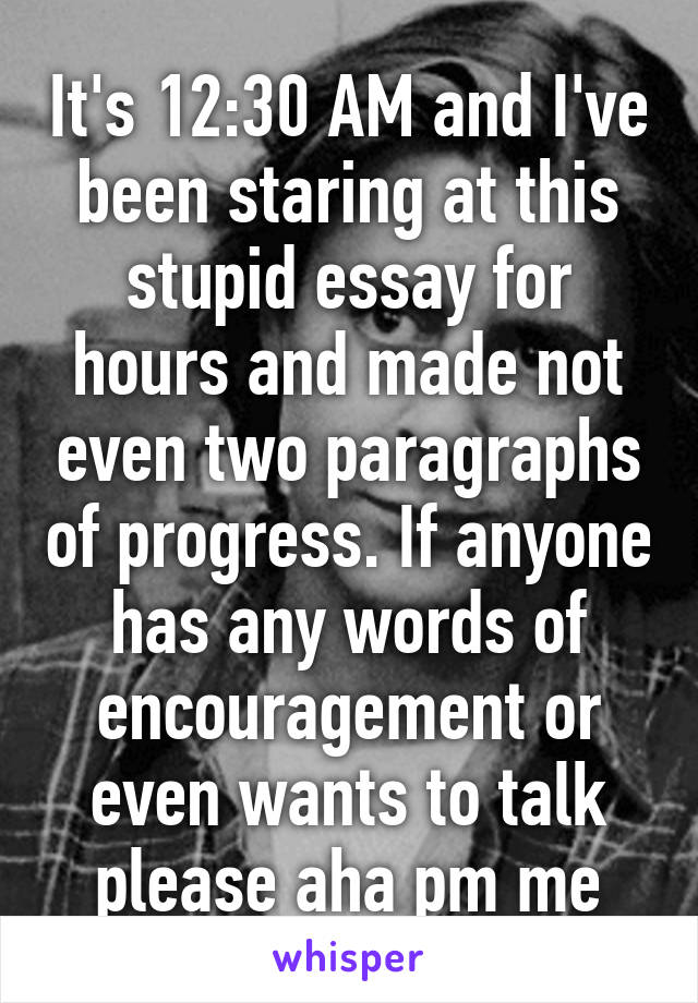 encouragement essay