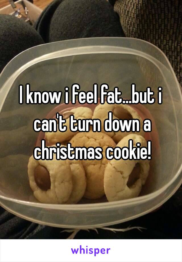 I know i feel fat...but i can't turn down a christmas cookie!