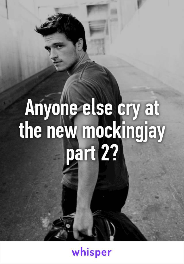 Anyone else cry at the new mockingjay part 2?