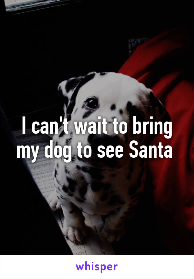 I can't wait to bring my dog to see Santa