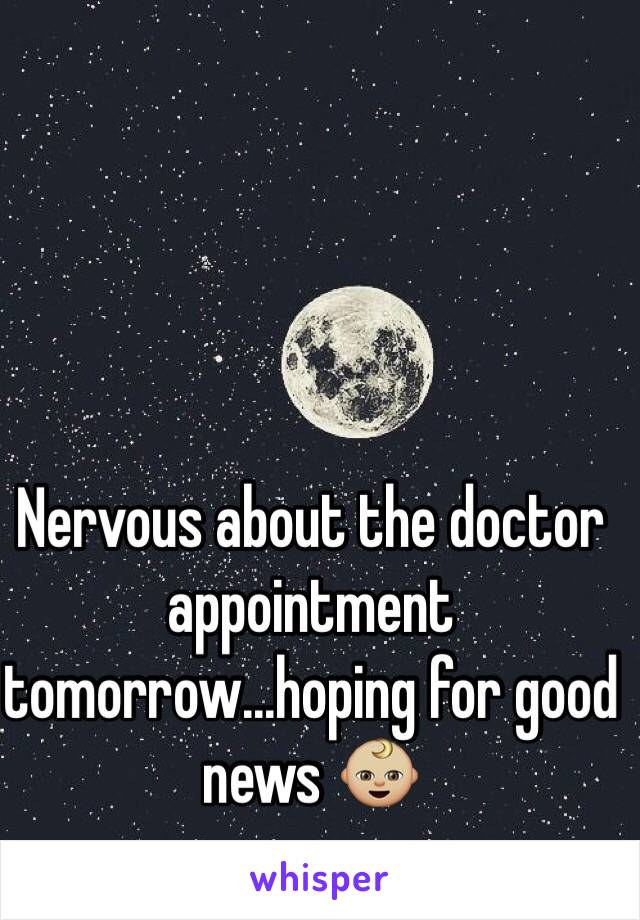 Nervous about the doctor appointment tomorrow...hoping for good news 👶🏼