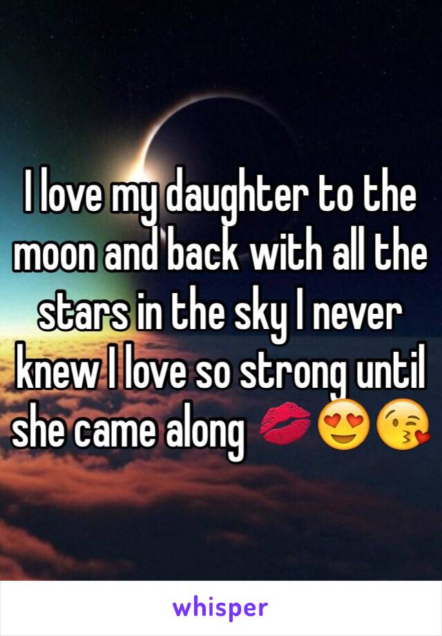 I love my daughter to the moon and back with all the stars in the sky I never knew I love so strong until she came along 💋😍😘