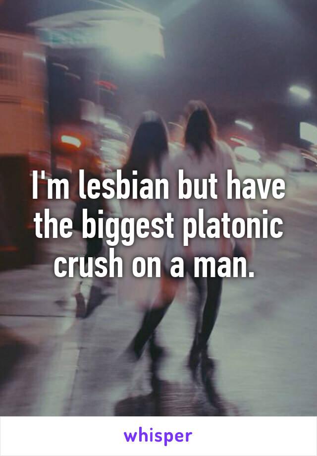 I'm lesbian but have the biggest platonic crush on a man.