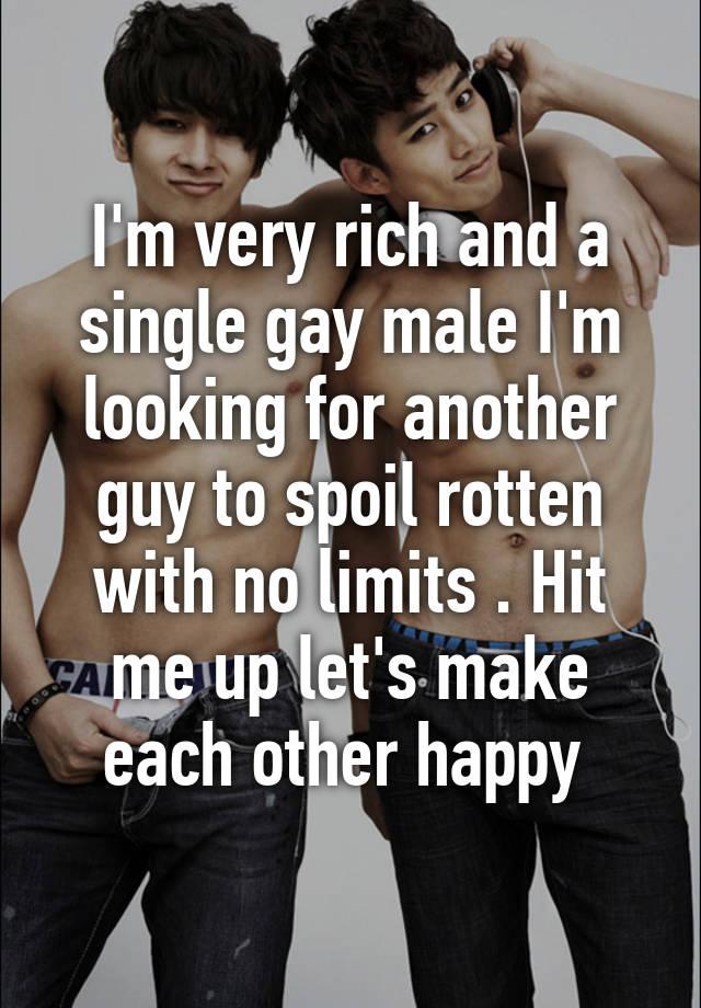 rich single gay guys