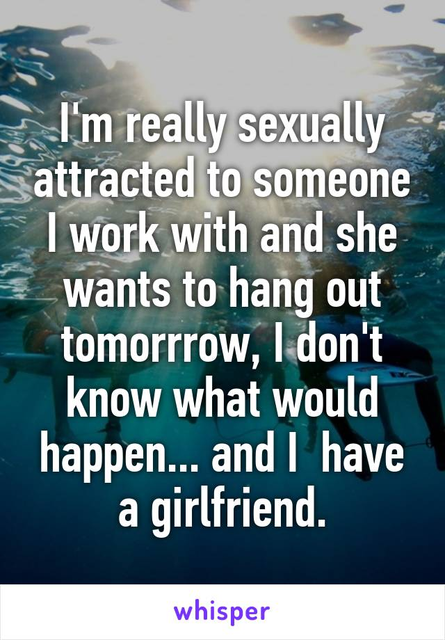 Sexually attracted to someone at work