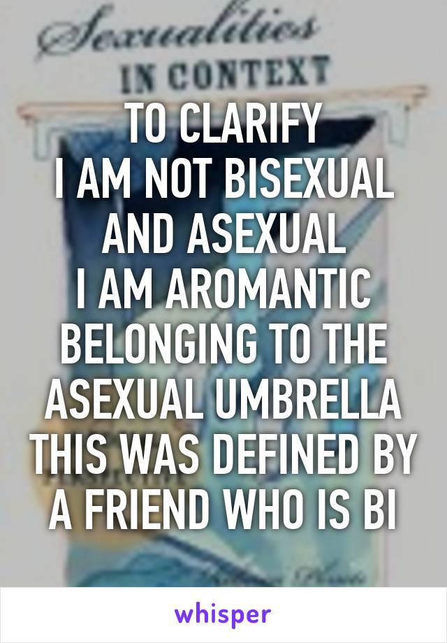 Aromantic bisexual definition