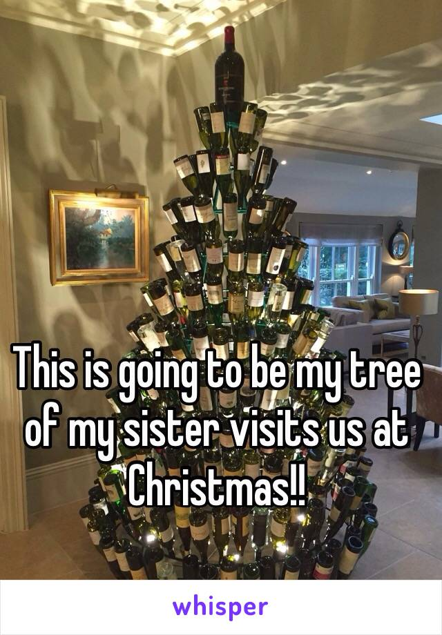 This is going to be my tree of my sister visits us at Christmas!!