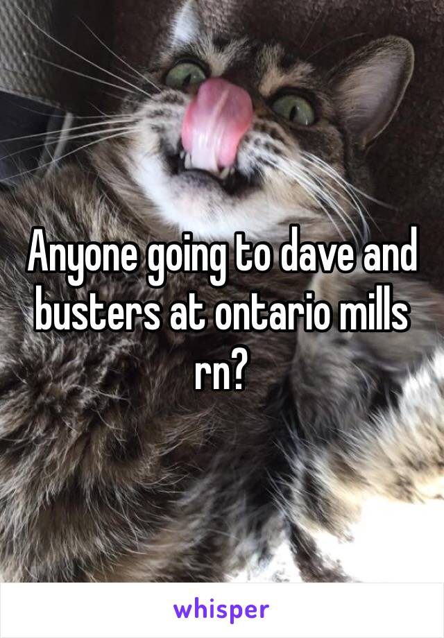Anyone going to dave and busters at ontario mills rn?