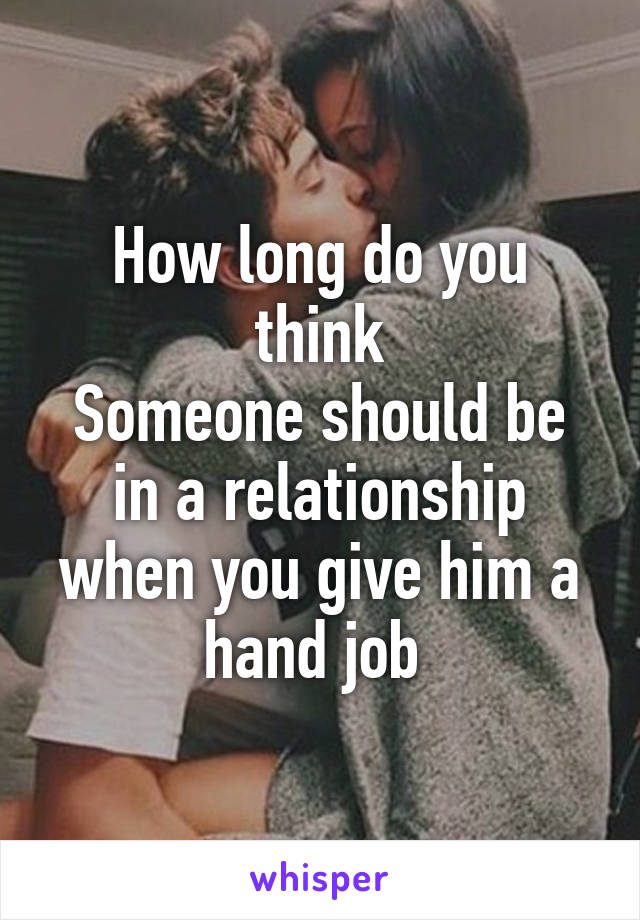 Give hand job love