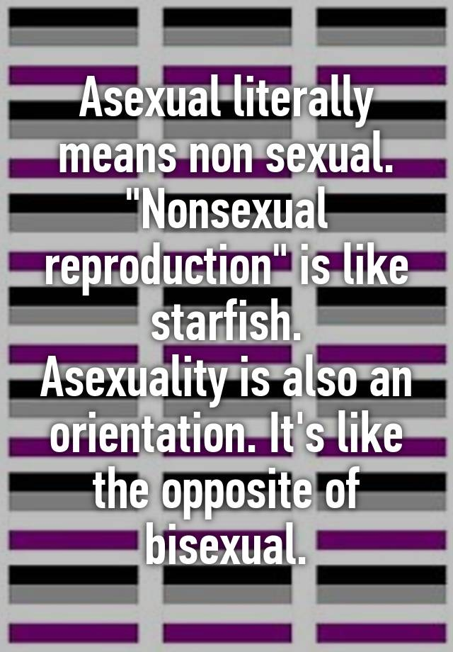 Non sexual reproductive