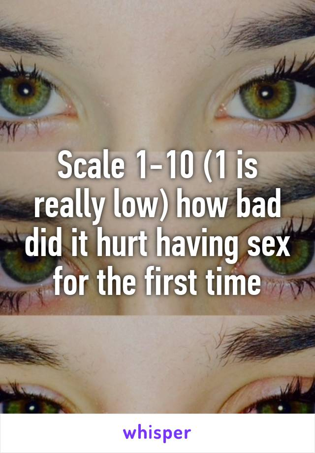 I had sex for the first time and it hurt