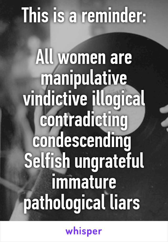 Vindictive women