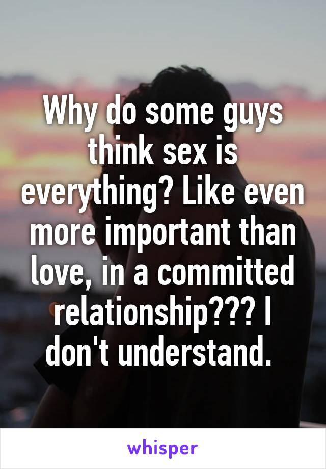 Is sex important in love