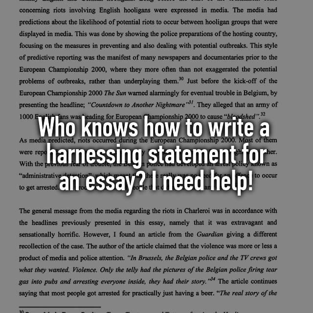 How to write a riot essay