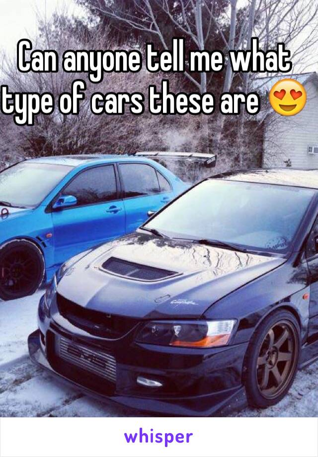 Can anyone tell me what type of cars these are 😍