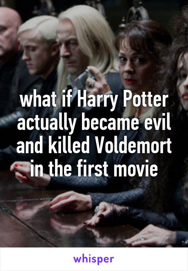 what if Harry Potter actually became evil and killed Voldemort in the first movie