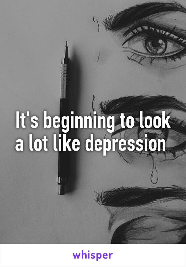 It's beginning to look a lot like depression
