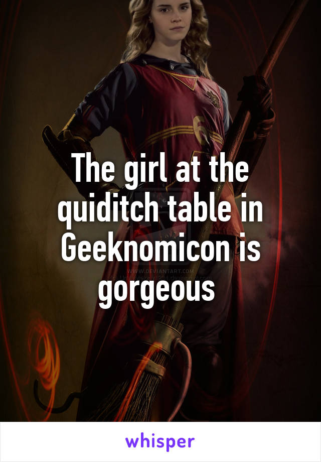 The girl at the quiditch table in Geeknomicon is gorgeous