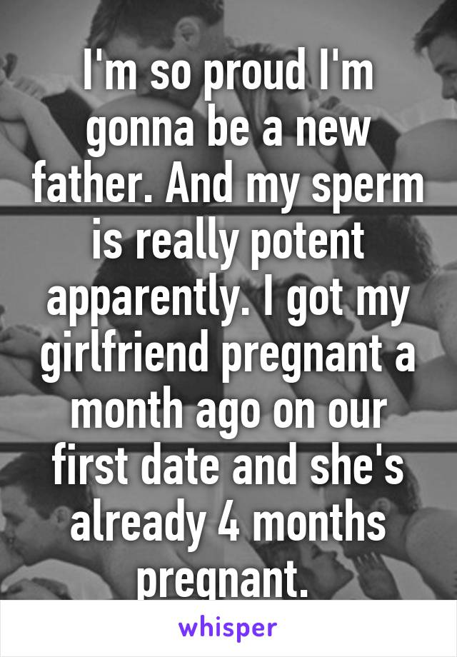 So my girlfriend is pregnant
